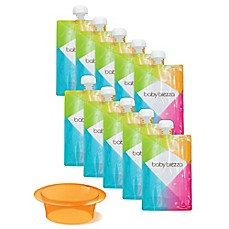 image of babybrezza® 10-Pack 7 oz. Reusable Food Pouches with Funnel Filing System  in Orange
