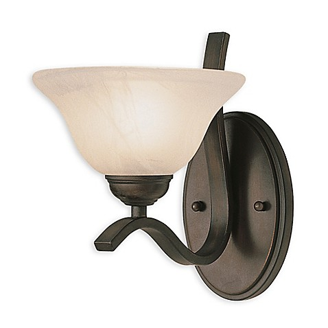 Bel air pine arch 1 light wall sconce in oil rubbed bronze bed bath beyond for Bathroom wall sconces oil rubbed bronze