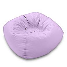 image of medium bean bag chair in lavender beanbags sphere chairs furniture dorm