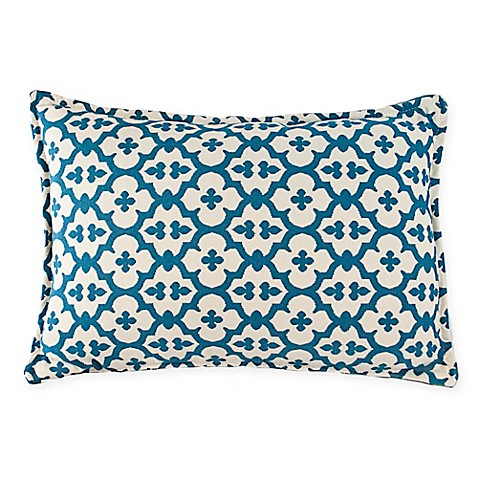 Blue Rectangle Throw Pillow : Buy Sherry Kline Constantine Rectangle Throw Pillow in Light Blue from Bed Bath & Beyond
