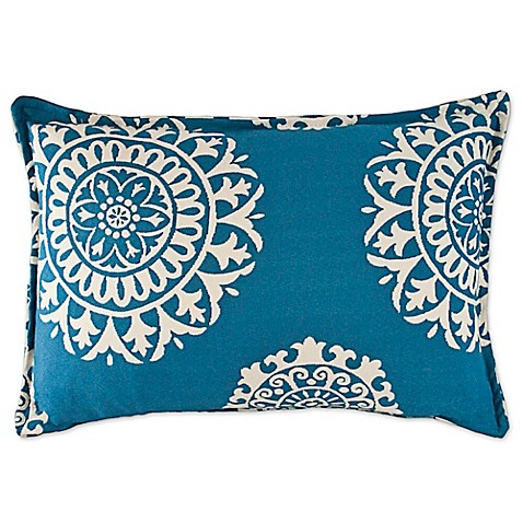 Buy Sherry Kline Constantine Main Oblong Throw Pillow in Light Blue from Bed Bath & Beyond