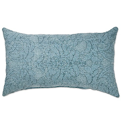 Buy Sherry Kline Dierdre Denim Oblong Throw Pillow in Blue from Bed Bath & Beyond