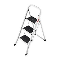 image of hailo 3step steel k20 step stool in white - Step Stool
