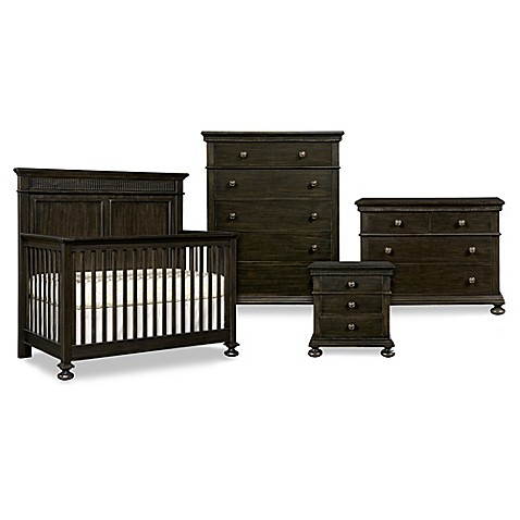 Stone Leigh By Stanley Furniture Smiling Hill Nursery Furniture In Black Licorice Bed Bath