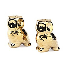 image of Studio TU® by Tabletops Unlimited® Oro Owl Salt and Pepper Shakers