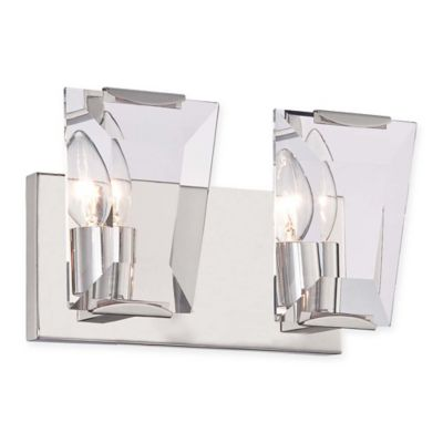 Bathroom Wall Sconces Polished Nickel : Castle Aurora 2-Light Bathroom Wall Sconce in Polished Nickel - Bed Bath & Beyond