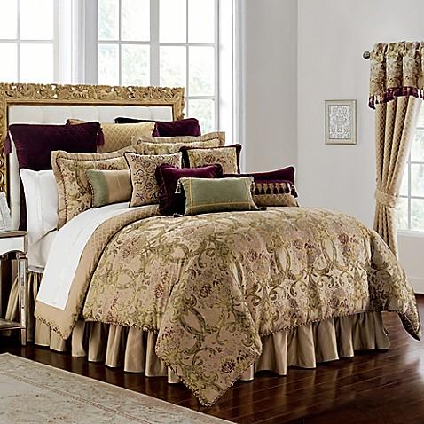 Buy Waterford 174 Linens Carlotta Queen Comforter Set In Gold