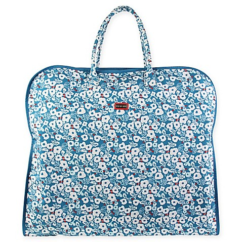Buy hadaki nylon garment bag in berry blossom teal from for Wedding dress garment bag for plane