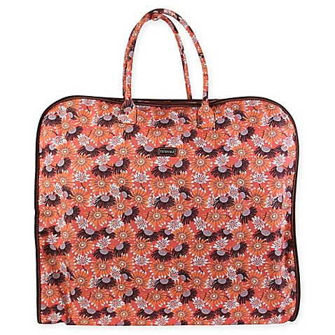 Buy hadaki nylon garment bag in daisies from bed bath beyond for Wedding dress garment bag for plane