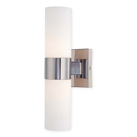 Minka Lavery 2-Light Tube Wall Sconce in Chrome - Bed Bath ...