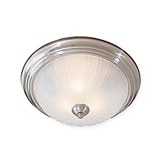 image of Minka Lavery® 3-Light Flush Mount Ceiling Fixture in Brushed Nickel