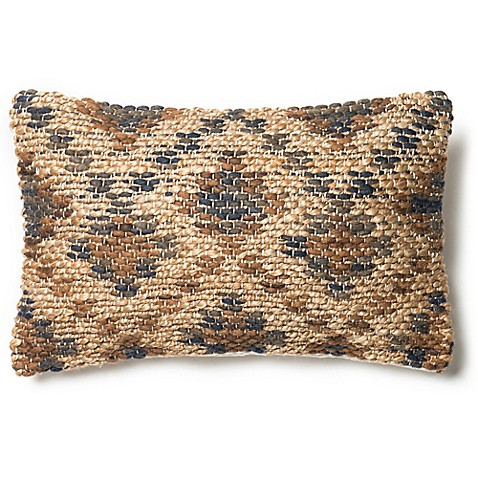 Brown Rectangular Throw Pillow : Loloi Nubby Horizontal Rectangle Throw Pillow in Brown/Beige - Bed Bath & Beyond