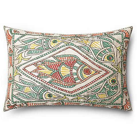 Buy fish rectangle down throw pillow from bed bath beyond for Fish throw pillows