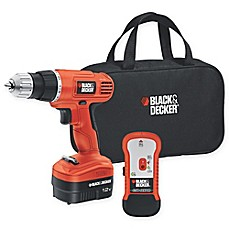 image of Black & Decker™ 12-Volt 3.8-Inch Cordless Drill/Driver with Storage Bag and Stud Sensor