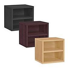 image of Way Basics Tool-Free Assembly Stackable Connect Shelf Storage Cube