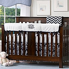 image of Liz And Roo Crib Rail Guard in White/Navy