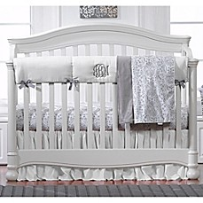image of Liz And Roo Crib Rail Guard in White/Grey