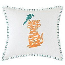 image of INK+IVY Kids Jacala Embroidered Square Throw Pillow in White