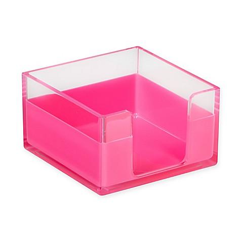 desk organizer memo tray in pink bed bath beyond