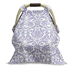 image of Liz and Roo Car Seat Carrier Cover in Lavender/White