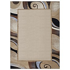 image of home dynamix tribeca swirl border area rug in cream