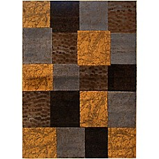 image of Home Dynamix Tribeca Tiles Area Rug in Brown/Grey