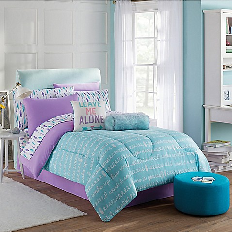 Buy Claudette 6 Piece Twin Comforter Set In Purple Blue