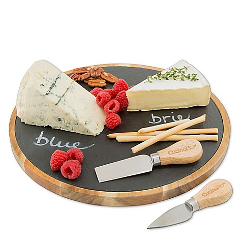 CucinaProu0026trade; Lazy Susan Slate Cheese Plate  sc 1 st  Bed Bath u0026 Beyond & CucinaPro™ Lazy Susan Slate Cheese Plate - Bed Bath u0026 Beyond
