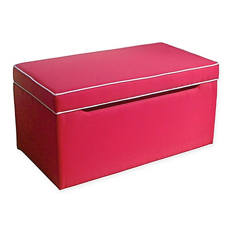Buy Homepop Upholstered Storage Bench In Red From Bed Bath Beyond