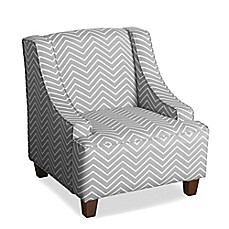 image of HomePop Cameron Juvenile Swoop Arm Accent Chair
