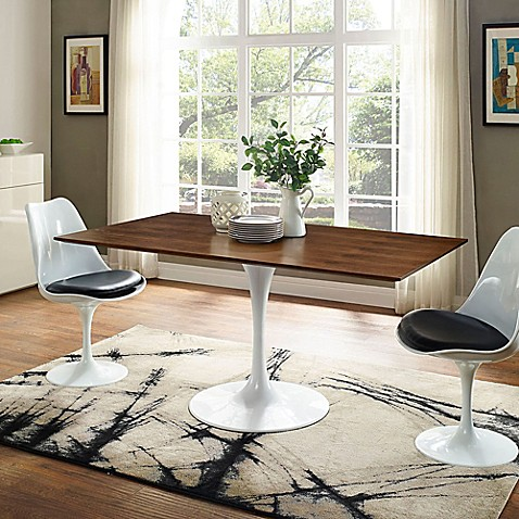 Modway 60 Inch Lippa Rectangle Dining Table Bed Bath