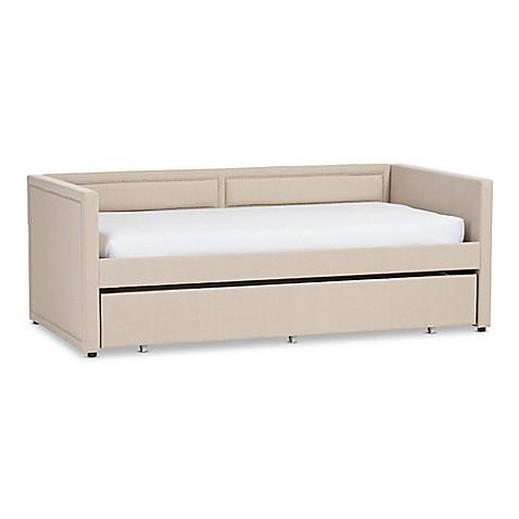 Baxton Studio Raymond Linen Sofa Twin Bed Bed Bath Beyond