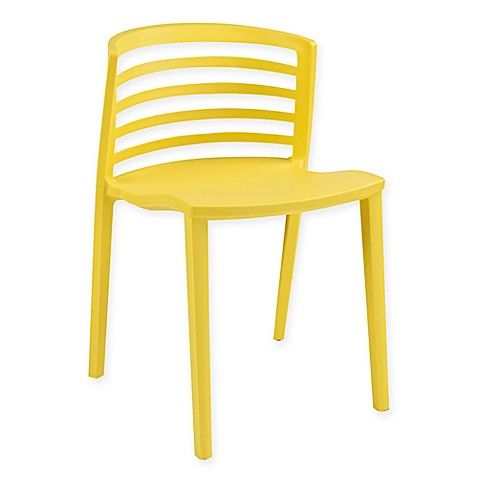 Modway Curvy Dining Side Chair In Yellow Bed Bath Amp Beyond