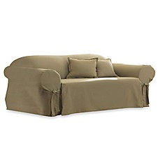 image of Cotton Linen Duck Sofa Slipcover by Sure Fit®