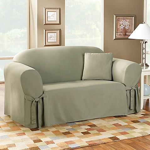 Sure Fit 174 Duck Supreme Cotton Sofa Slipcover Bed Bath