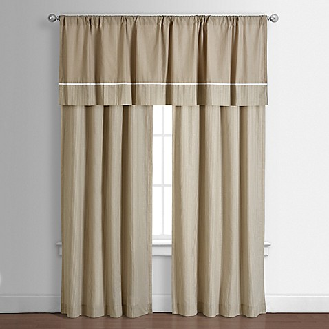 Buy Spencer Straight Window Valance In Taupe From Bed Bath - spencer home decor curtains