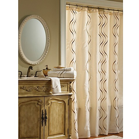 Croscill Dante 72 Inch X 84 Inch Fabric Shower Curtain In Champagne Bed Bath Beyond
