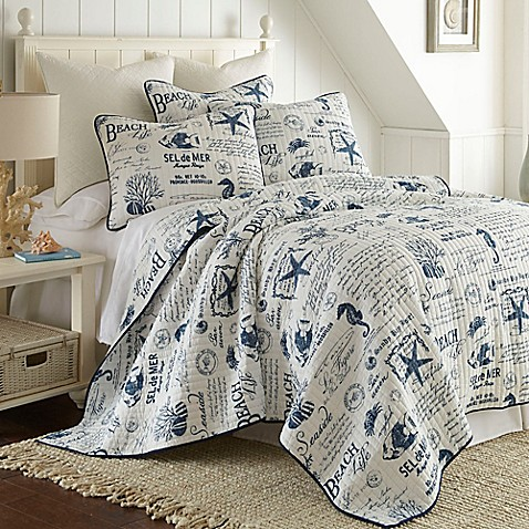 Levtex Home Freetown Quilt Set In White Navy Bed Bath
