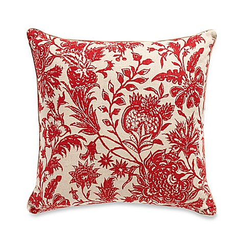 Red Throw Pillow For Bed : Ananya Square Throw Pillow in Red - Bed Bath & Beyond
