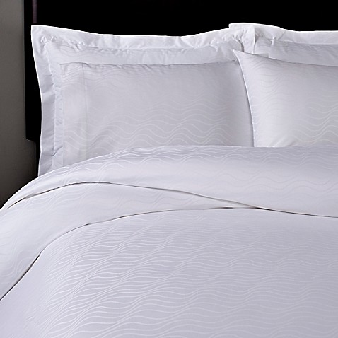 T Y Group Ripple European Pillow Shams In White Set Of 2