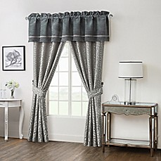 image of Waterford® Linens Ansonia Pole Top 84-Inch Window Curtain Panel Pair and Valance