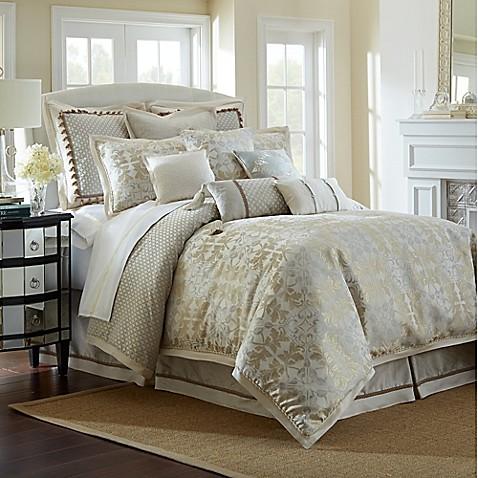 Waterford 174 Linens Olivette Reversible Comforter Set Bed
