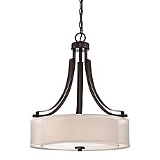 image of Minka-Lavery® Harvard Court 3-Light Pendant with Harvard Court Bronze Finish