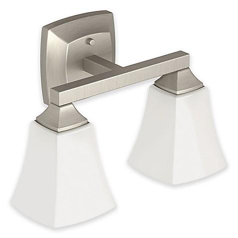 Buy Moen Voss 2 Light Bath Fixture In Brushed Nickel With