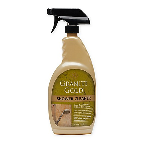 Granite gold 24 oz shower cleaner bed bath beyond for Cleaning products for marble showers