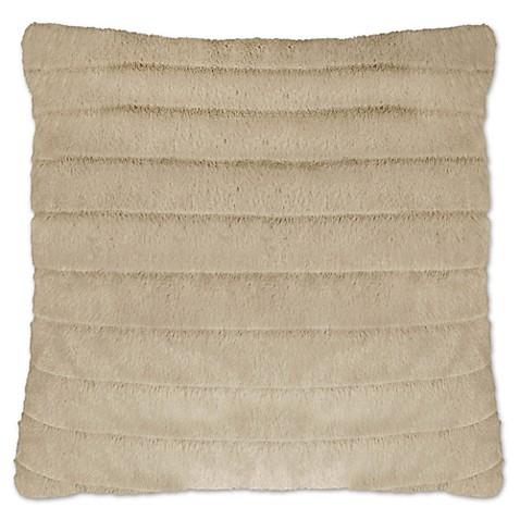 Envogue Decorative Pillows : Envogue Saber Striped Square Throw Pillows in Beige (Set of 2) - Bed Bath & Beyond
