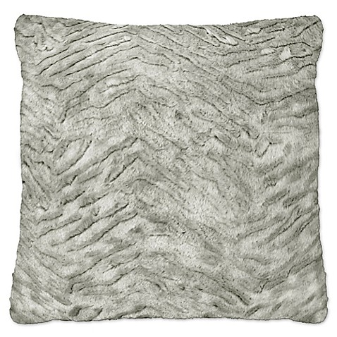 Envogue Persian Silver Fox and Greygoose Square Throw Pillows in Silver (Set of 2) - Bed Bath ...