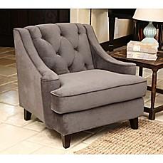 Image Of Abbyson LivingR Emily Velvet Armchair