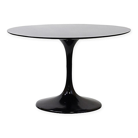 buy modway lippa fiberglass 40 inch oval dining table in black from bed bath beyond. Black Bedroom Furniture Sets. Home Design Ideas