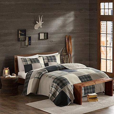 Woolrich 174 Winter Hills Reversible Quilt Set In Tan Bed Bath Amp Beyond